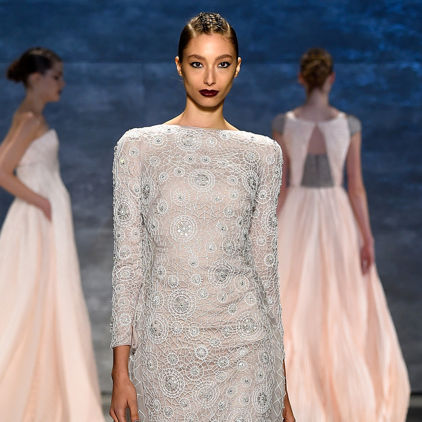 Fashion Week spring 2015 Bibhu Mohapatra lace gown