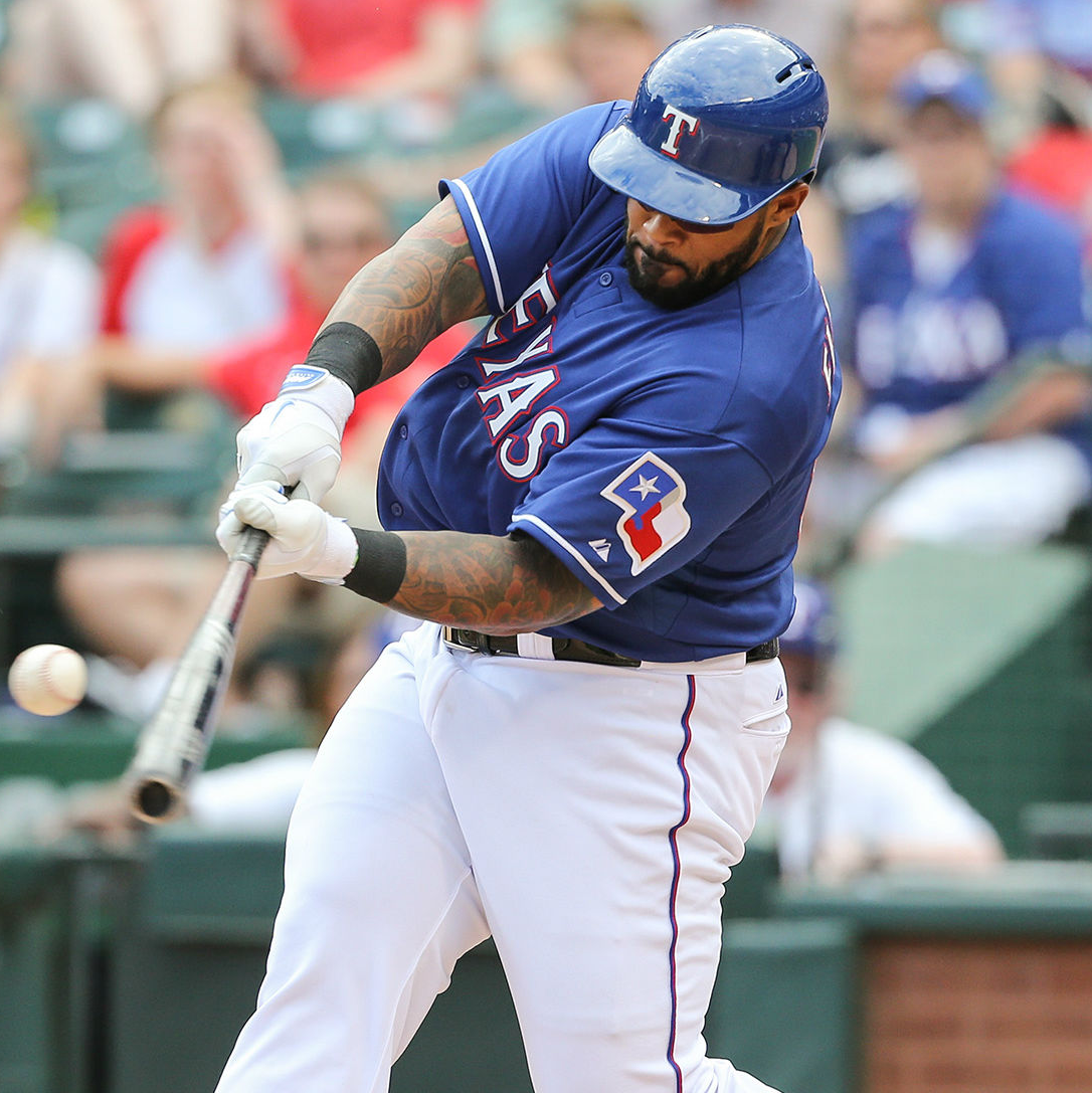 Texas Rangers first baseman Prince Fielder