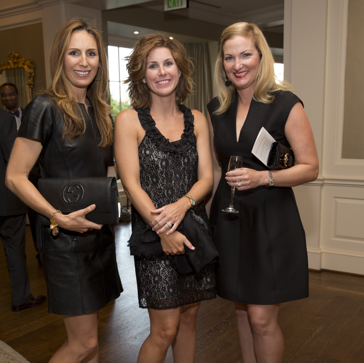 Brooke Bentley Gunst, Haley Webster, Natalie Synnott at Chinquapin Flashback 75 Gala