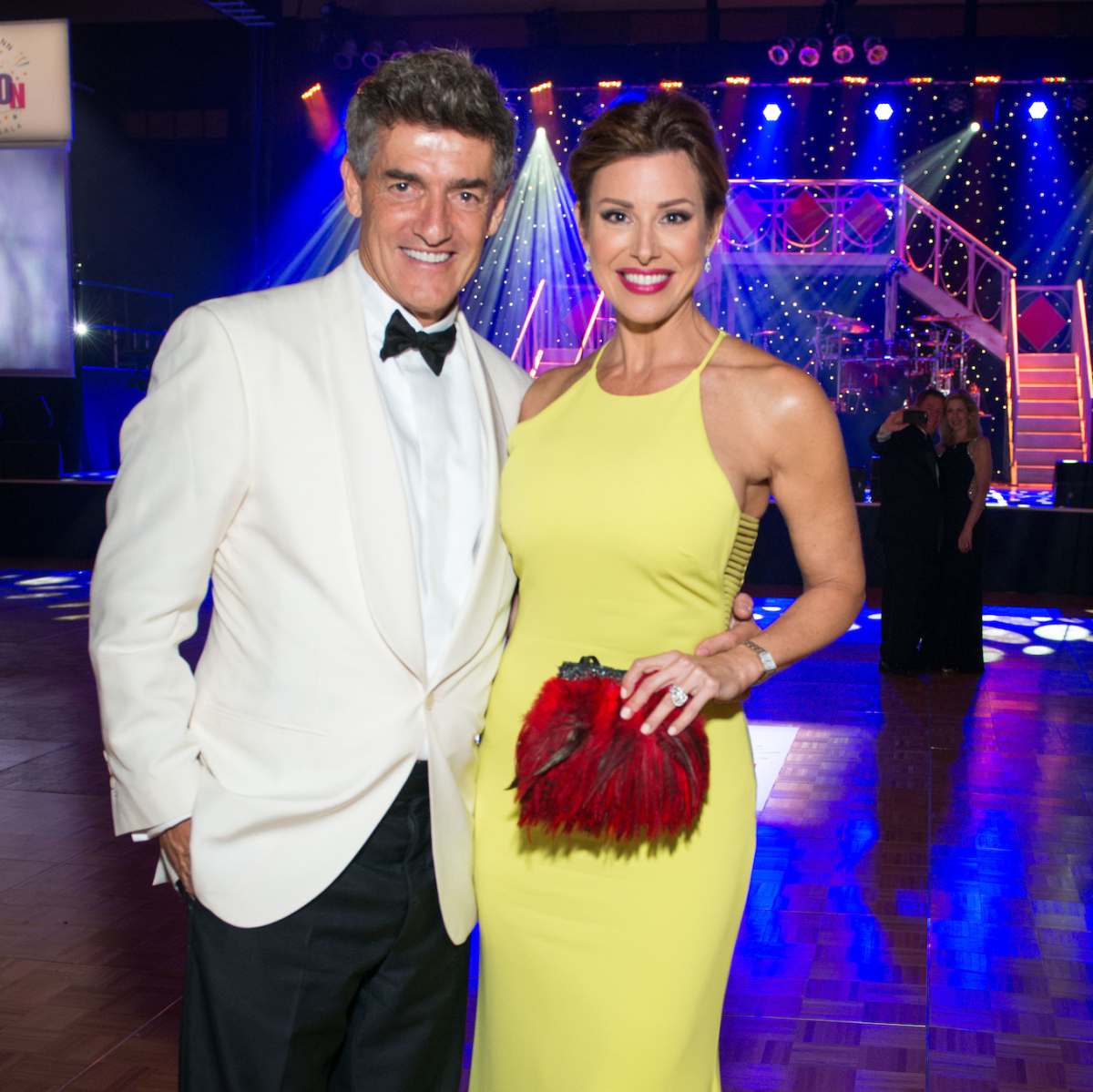 Dominique Sachse and NIck Florescu at Memorial Hermann Gala