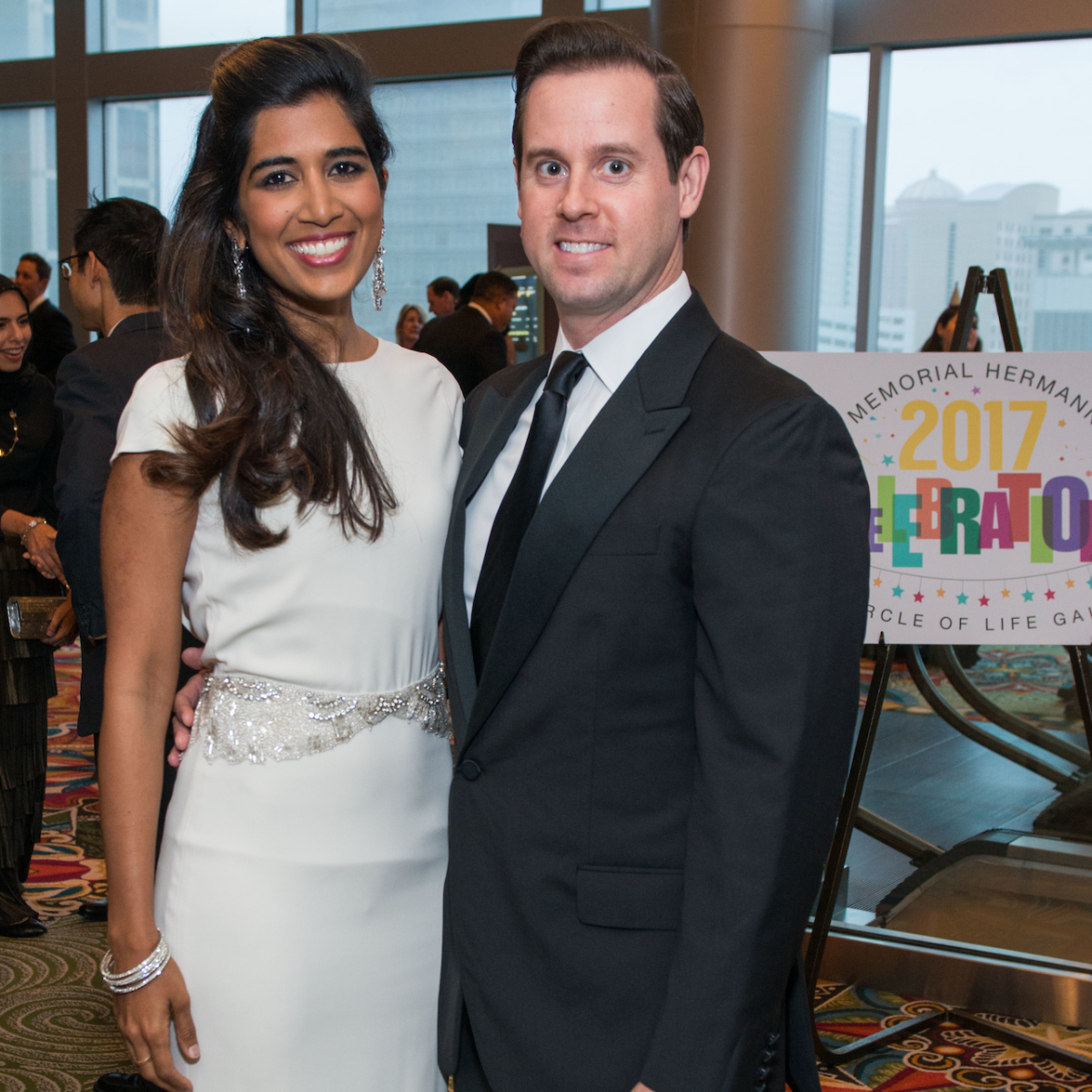 Divya and Chris Brown at Memorial Hermann Gala