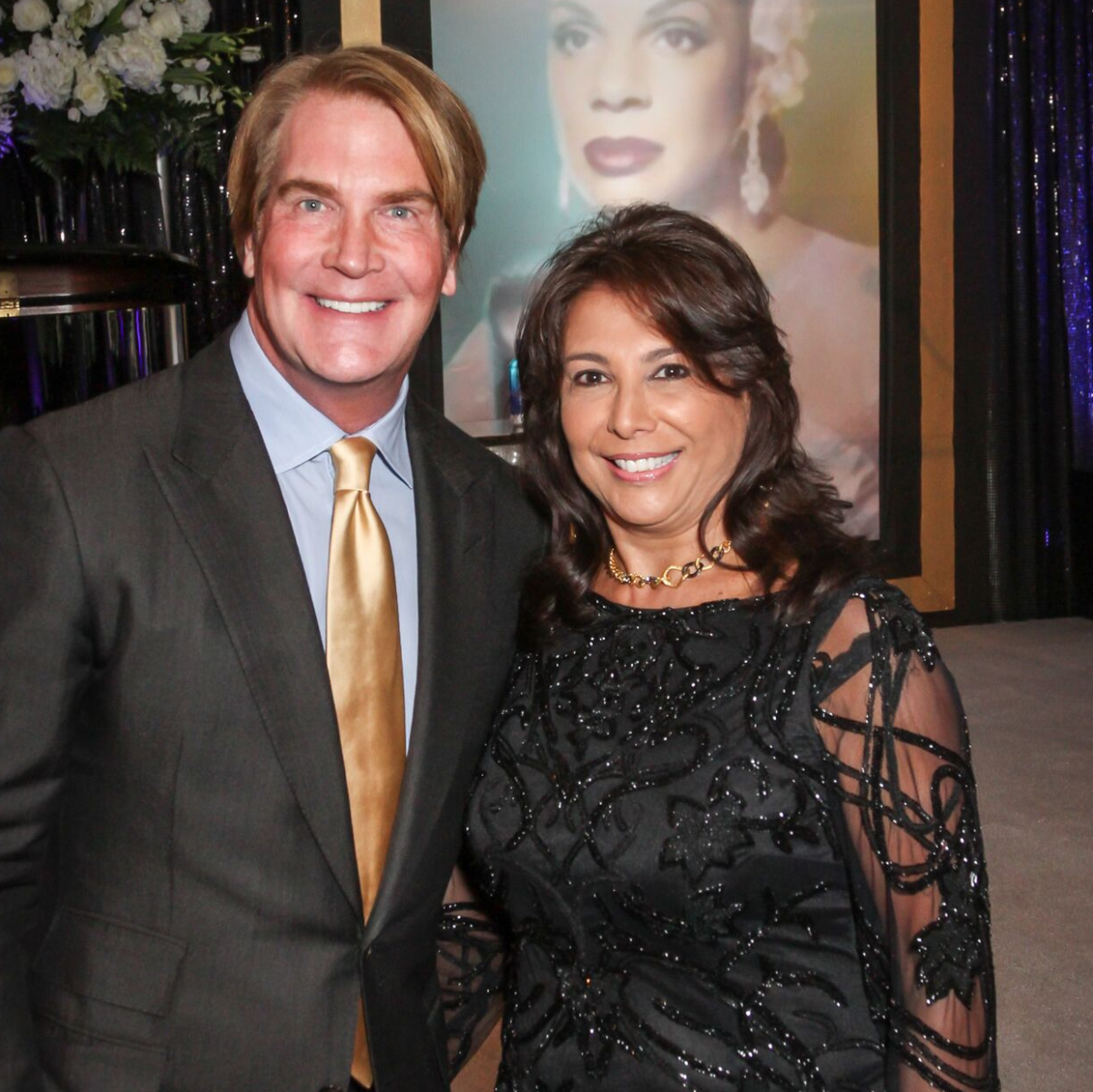 George Lancaster, Regina Garcia at Houston Arts Alliance performance by Audra McDonald