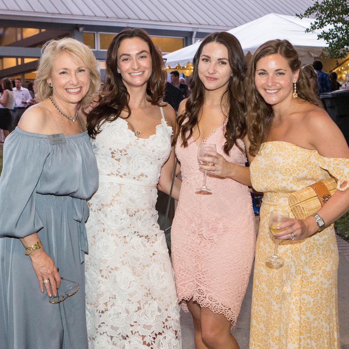 Umlauf Garden Party 2017 Nina Seely Stephanie Condon Caitlin Swain Kristin Fannin