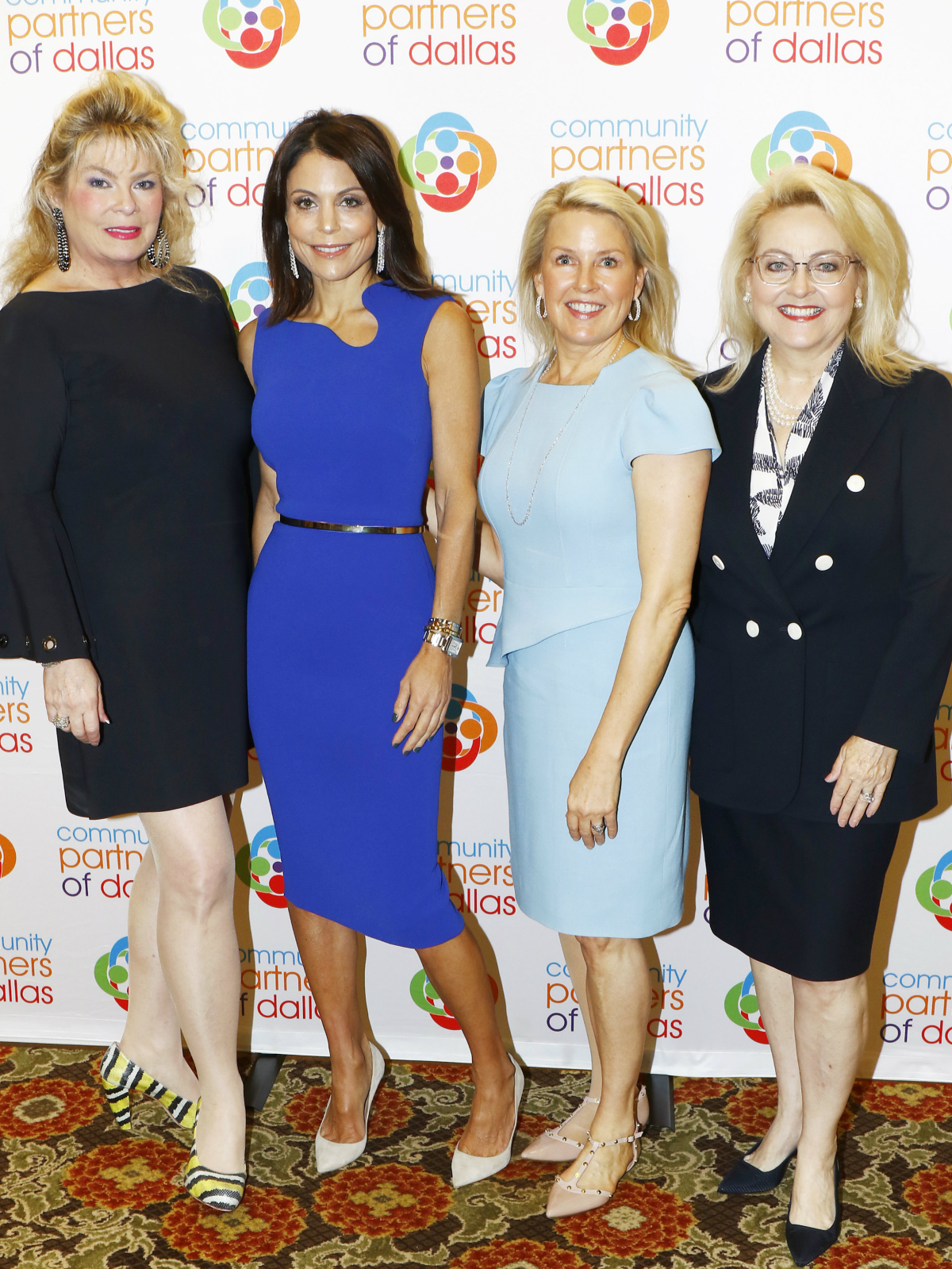 Gail Corder Fischer, honorary chair, Bethenny Frankel, featured speaker, Mary Martha Pickens, Chick Lit Luncheon co-chair and Tricia George, Chick Lit Luncheon co-chair