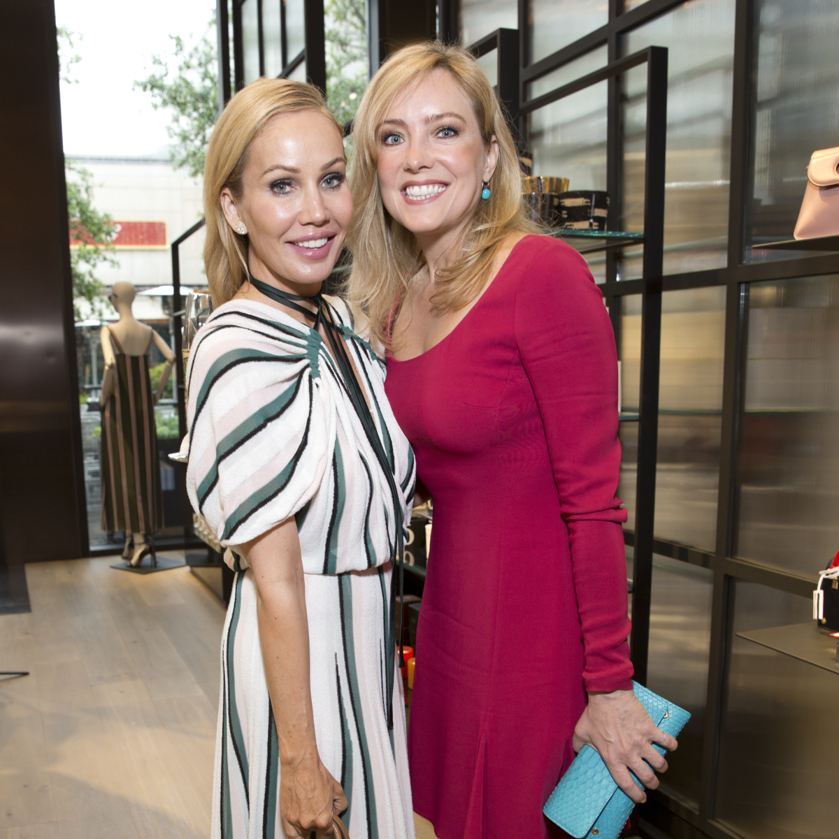 Brooke Davenport, Helen Norman at Adam Lippes luncheon