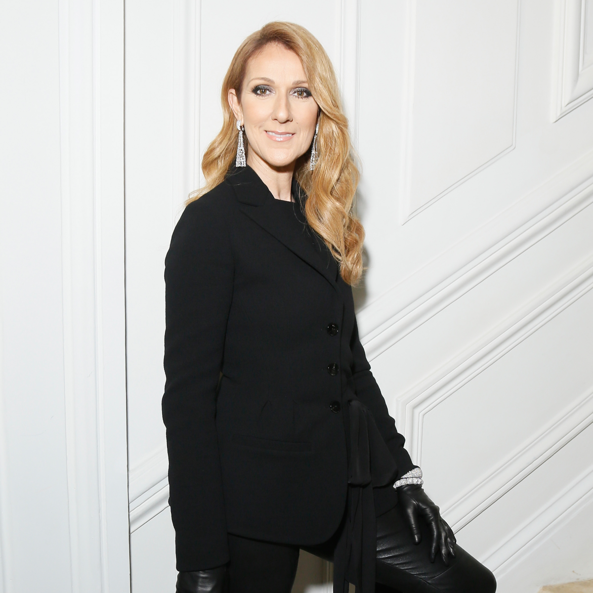 Celine Dion at Dior haute couture runway show Paris