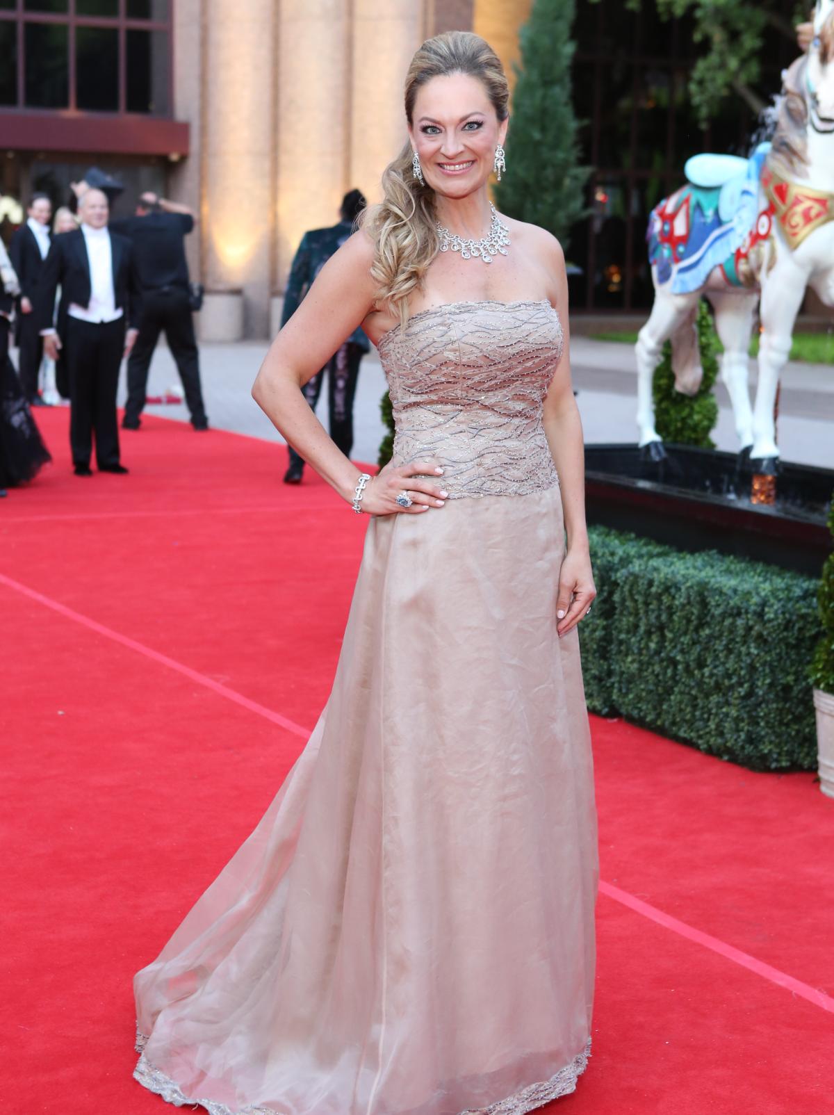 Houston, Opera Ball Gowns, April 2016,  Rachel Regan in Crisada from Neiman Marcus.