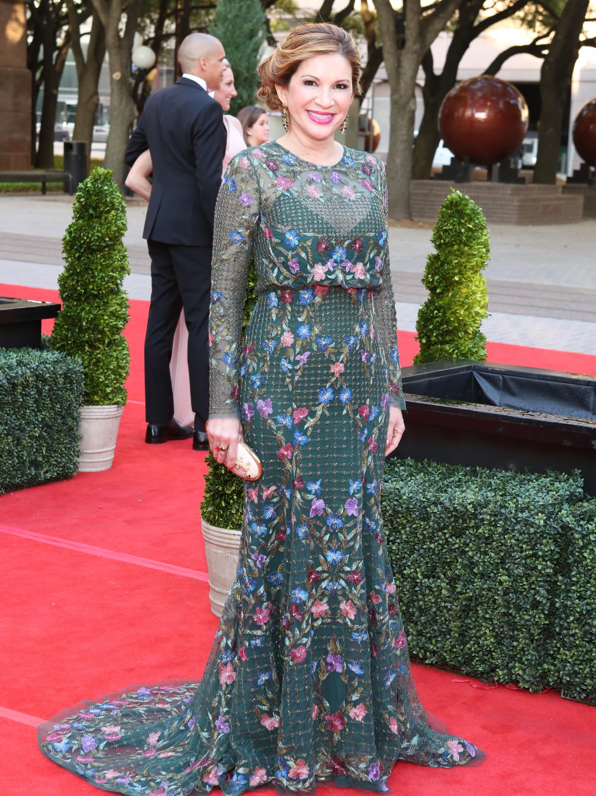 Houston, Opera Ball Gowns, April 2016,  Alex Blair in Monique Lhuillier