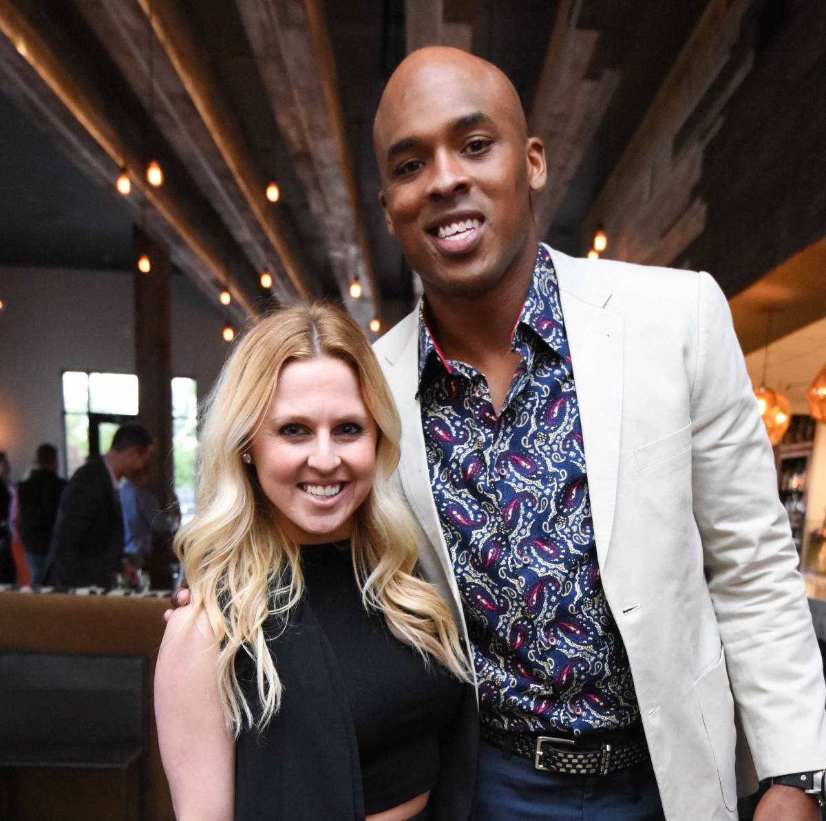 Black & White party, March 2016, Lauren Walsh, Jermichael Finley