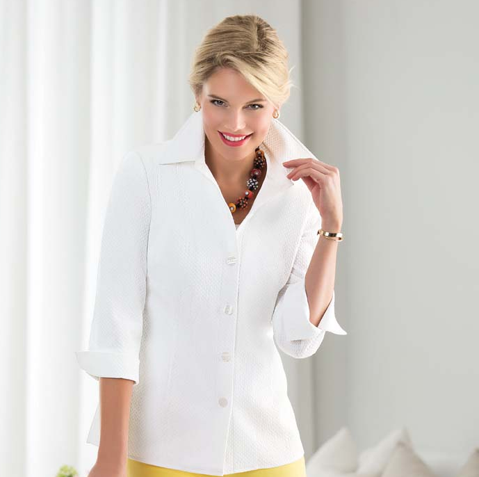 Nina McLemore white tunic