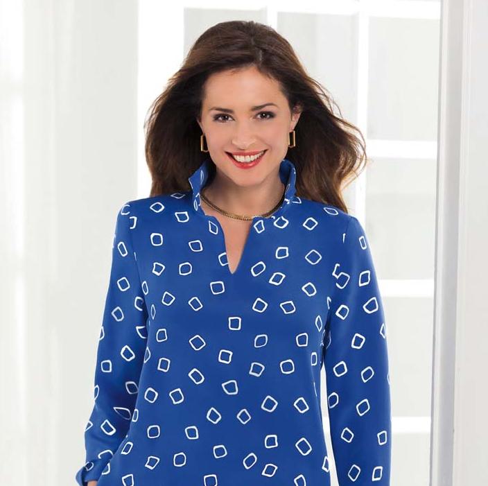Nina McLemore printed tunic