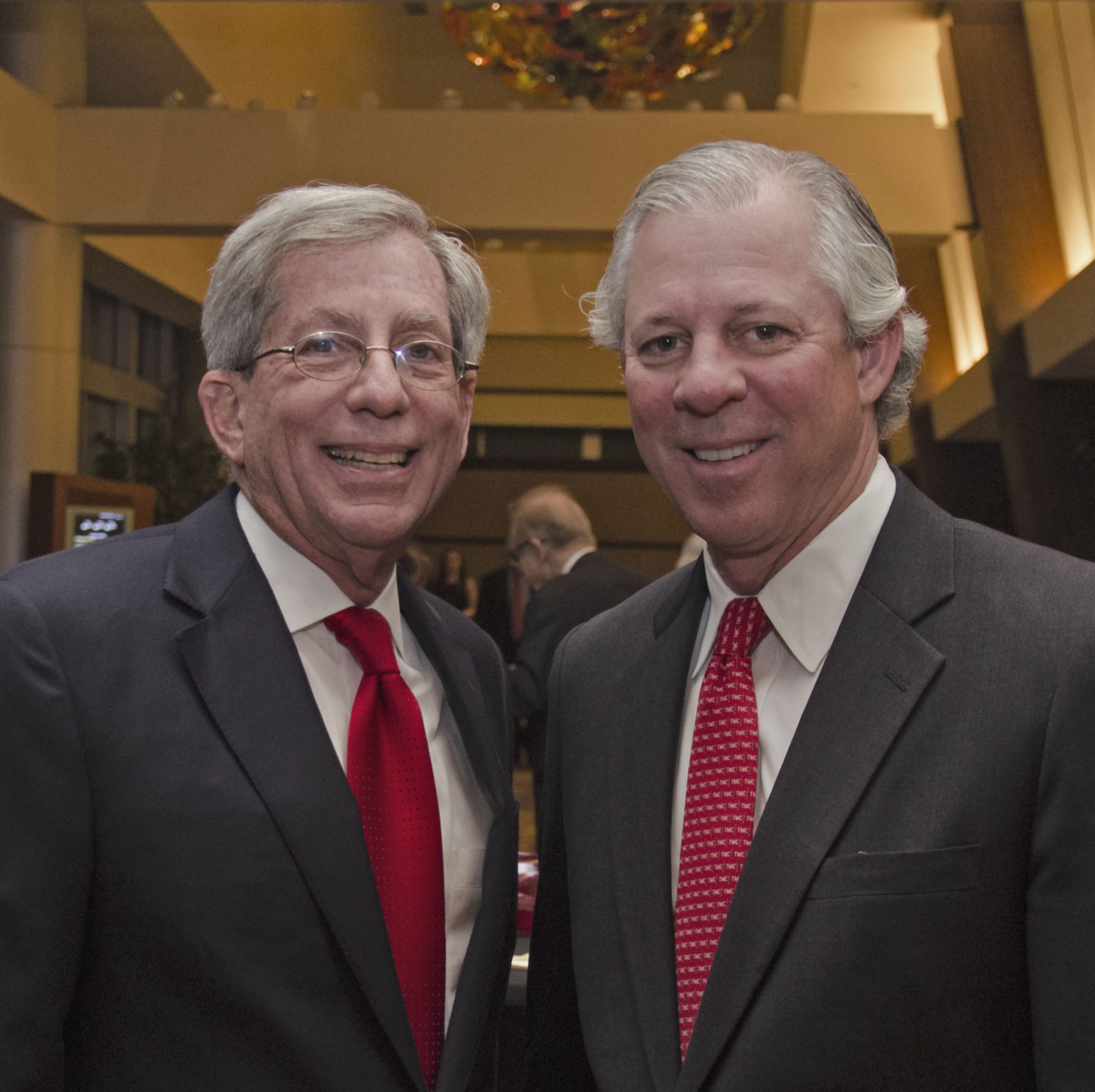 Texas Heart Institute dinner, Feb. 2016, Fred Zeidman, Dr. Robert Robbins