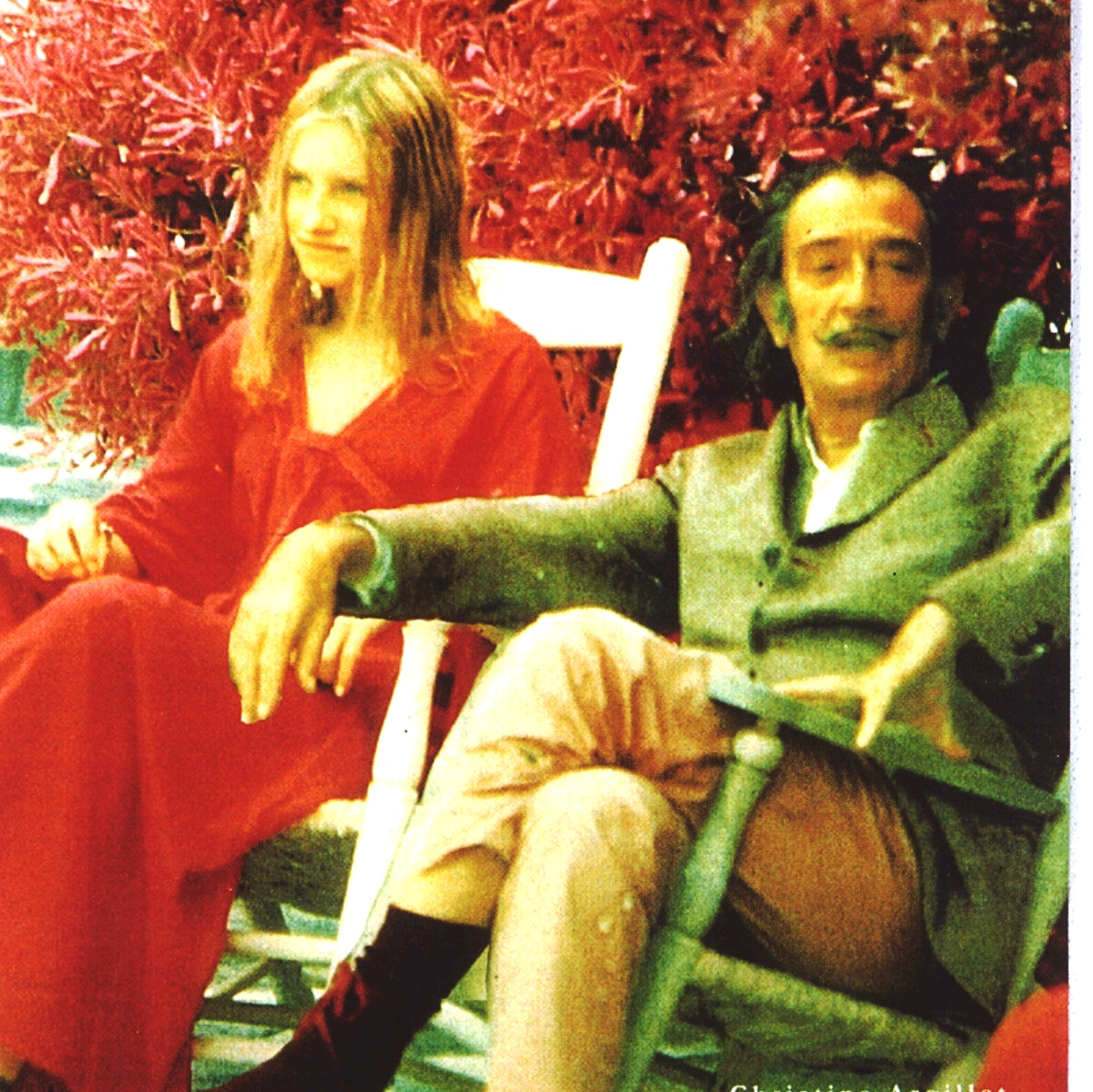 Christine Argillet and Salvador Dali