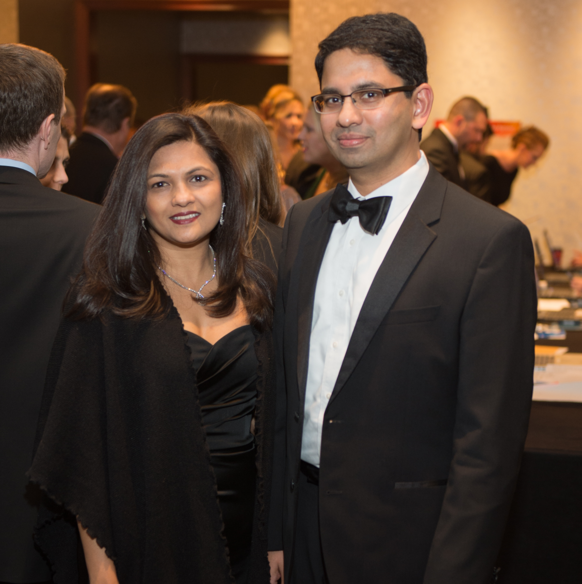 Houston, Pink Door Night of the Phoenix Gala, November 2015, Drs. Aparna and Ashish Kamat