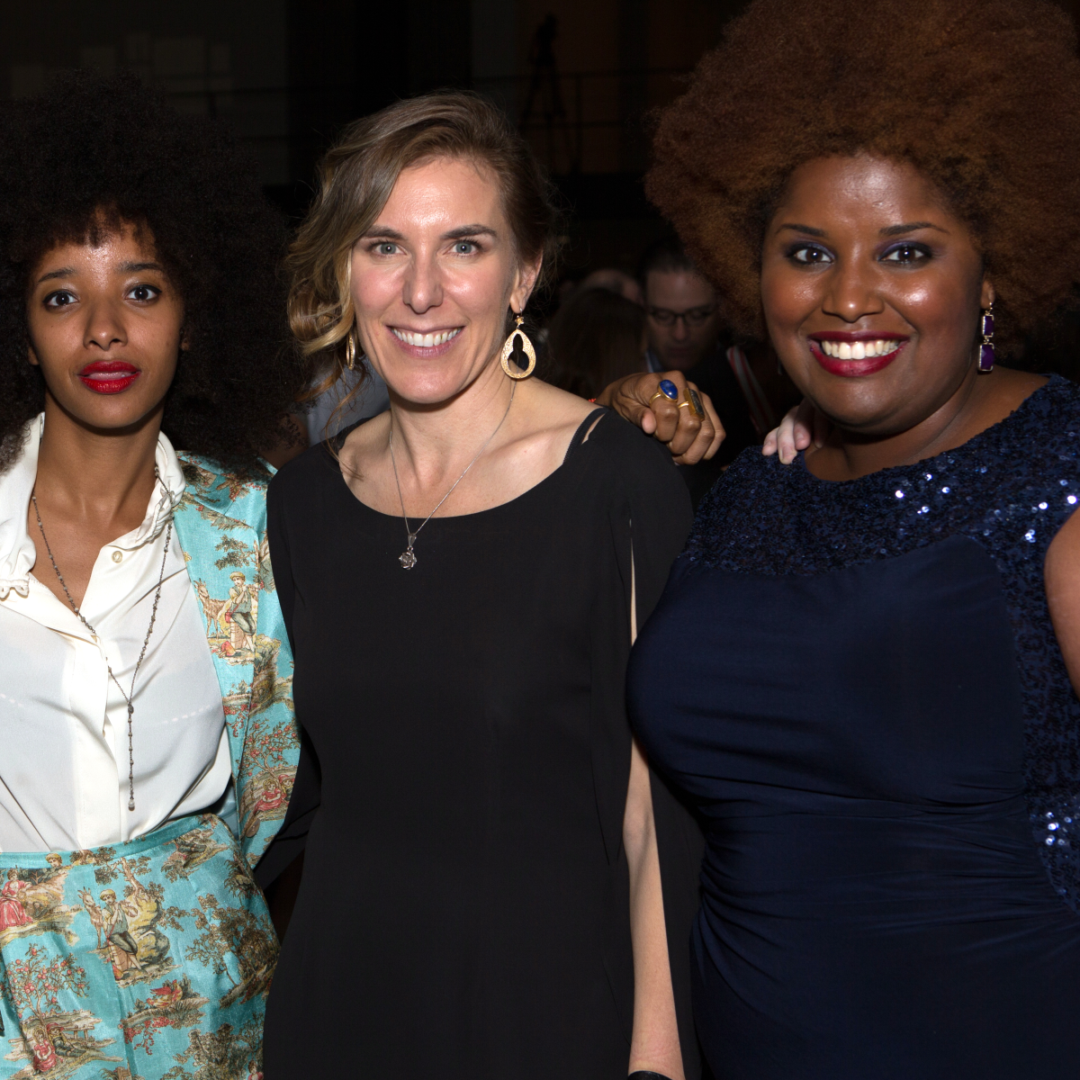 Houston, Cinema Arts Fest opening night, November 2015, Melissa Martian, Asli Omar, Amy Berg, Kam Franklin