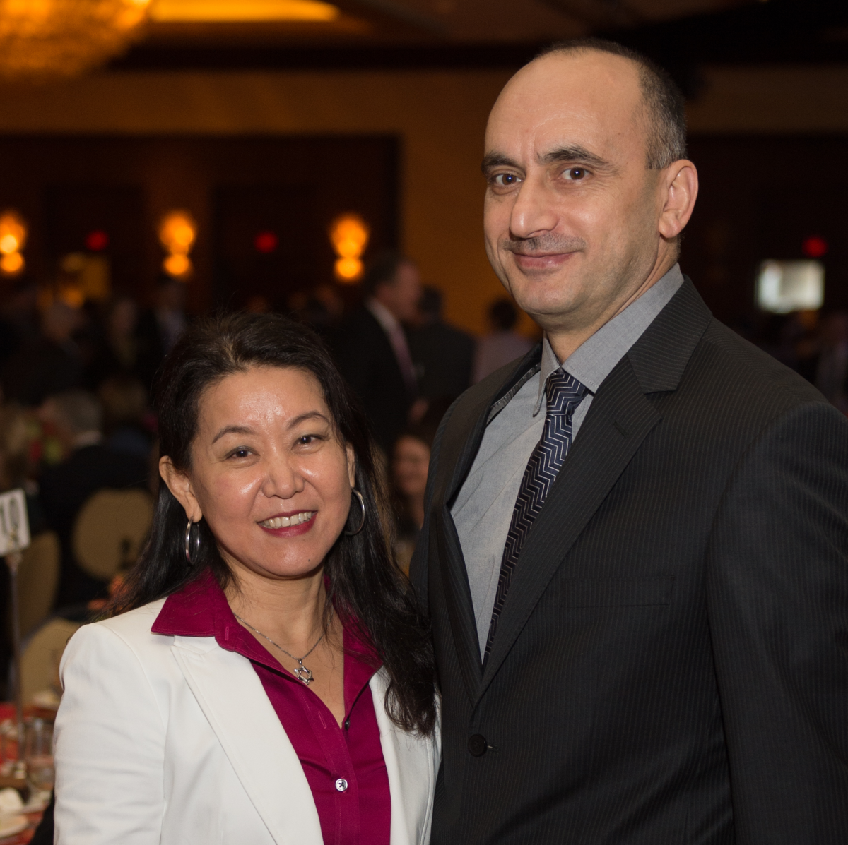 News, Shelby, Holocaust museum luncheon, Nov. 2015, Nancy Li, Dr. Soner Tarim
