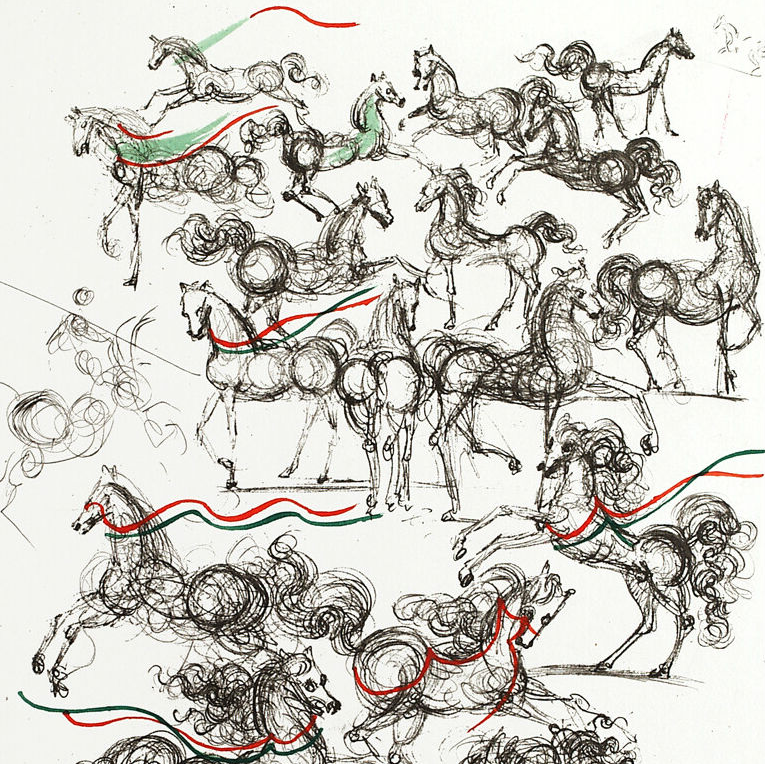 Salvador Dali Horses of Mao