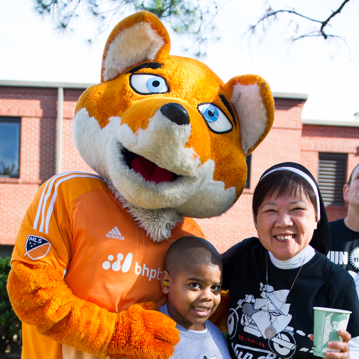 Christus Nun Run Houston Dynamo Diesel, Edmond Flournoy, Sister Kim Tran