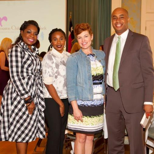 News, Shelby, Houston Children Give Back, Oct. 2015, REnita Cooksey, Chloe Rushing, Katie Daggett, Brian Garrett