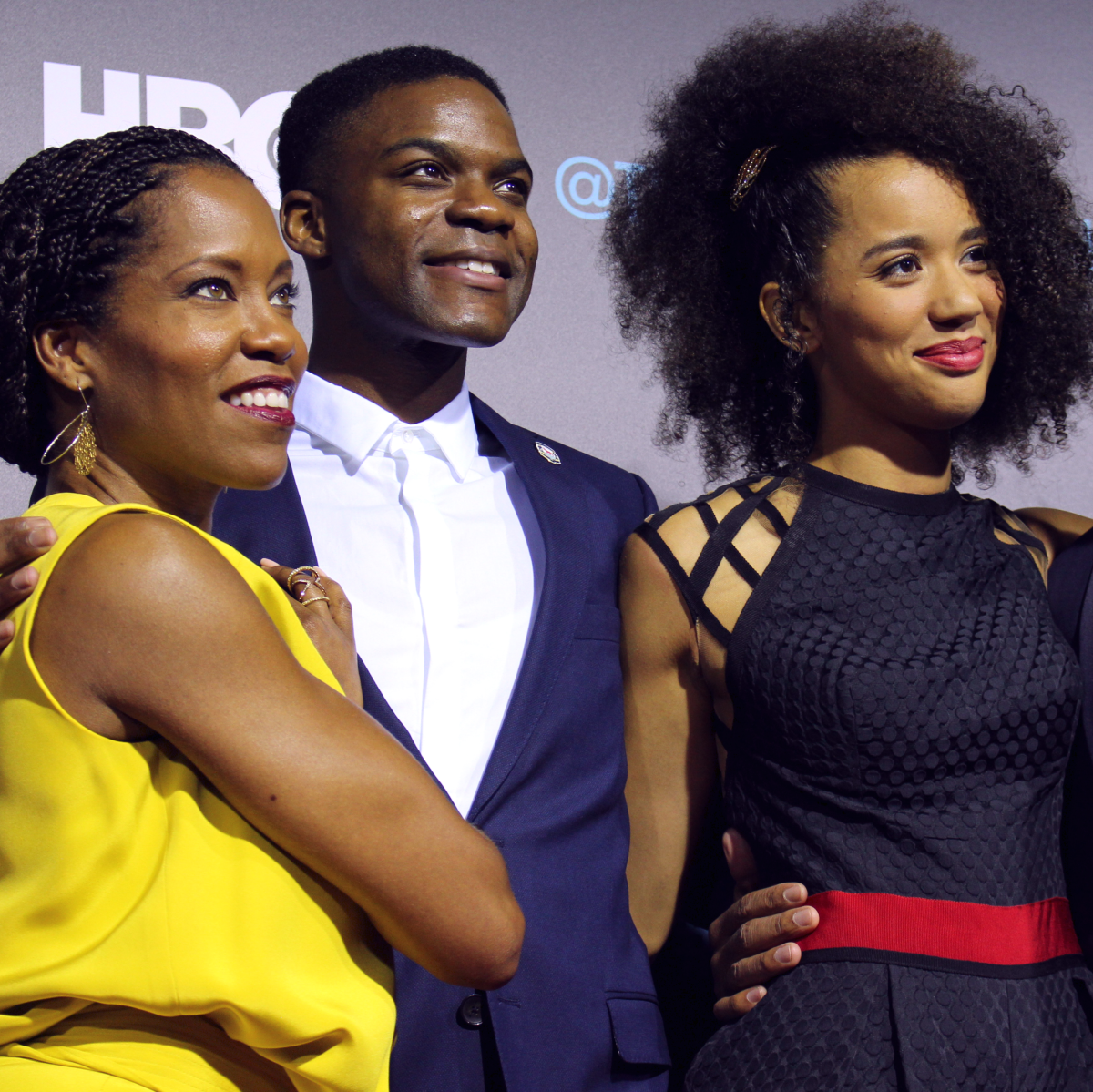 The Leftovers HBO Season 2 red carpet premiere Regina King Jovan Adepo Jasmin Savoy Brown Kevin Carroll October 2015