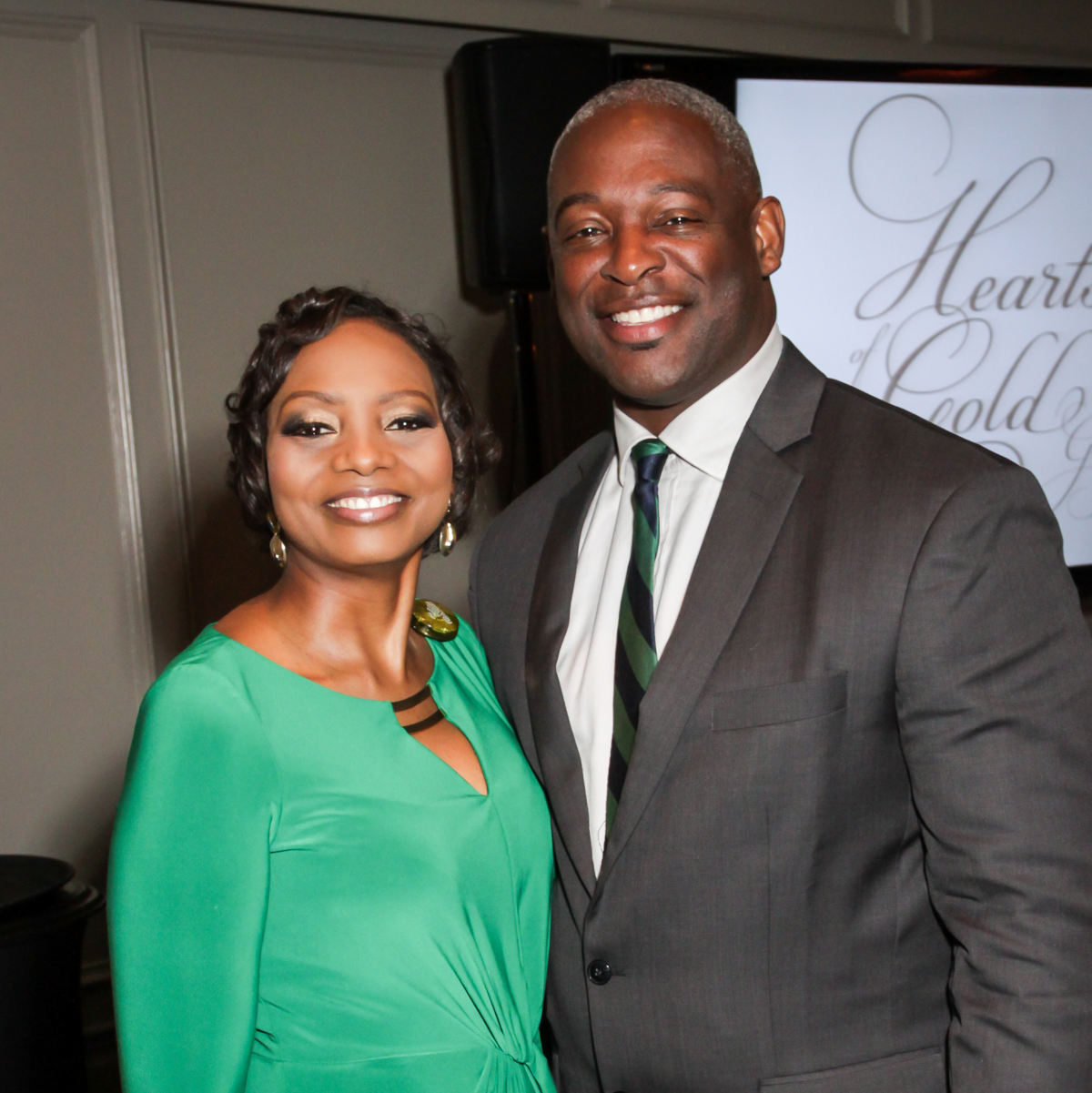 Hearts of Gold Gala The Health Museum President & CEO Melanie Johnson, Ed.D., and Bruce Johnson
