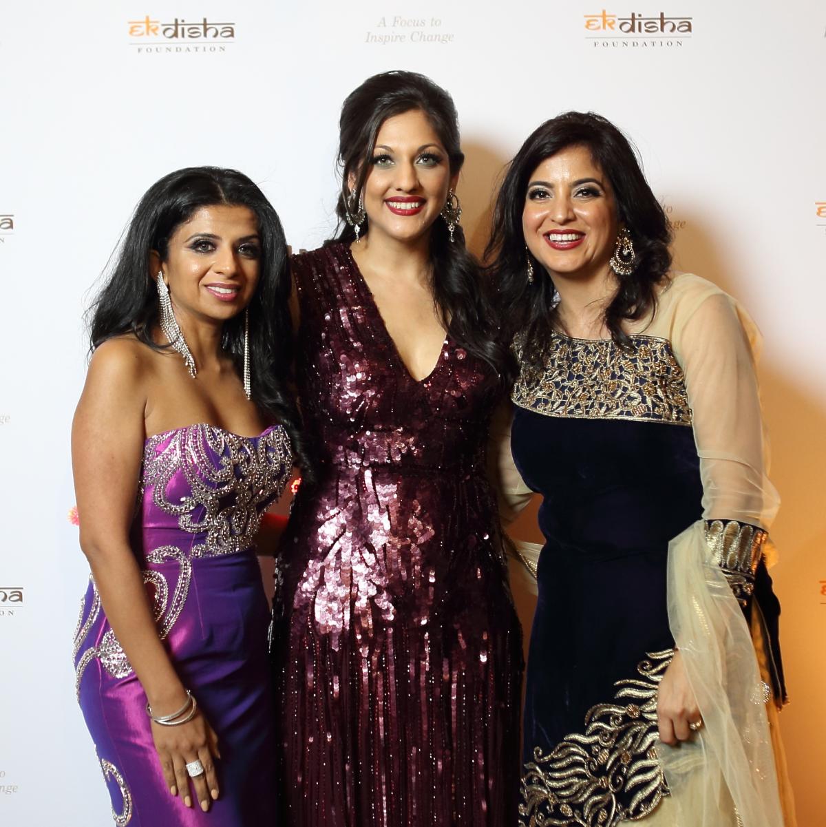 Bass Gala 2015 Farida Abjani, Dr. Sippi Khurana, Geeta Anand