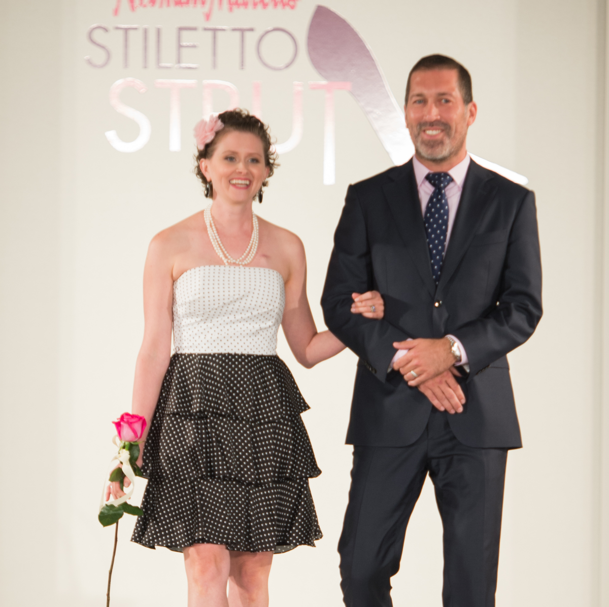 News, Shelby, Stiletto Strut, Sept. 2015 Heather Lozado and Hernan Vargas