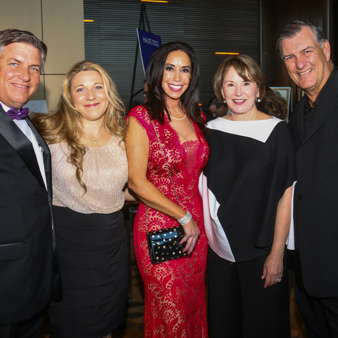 James Bias, Natalie Bias, Jocelyn White, Micki Rawlings, Mayor Mike Rawlings