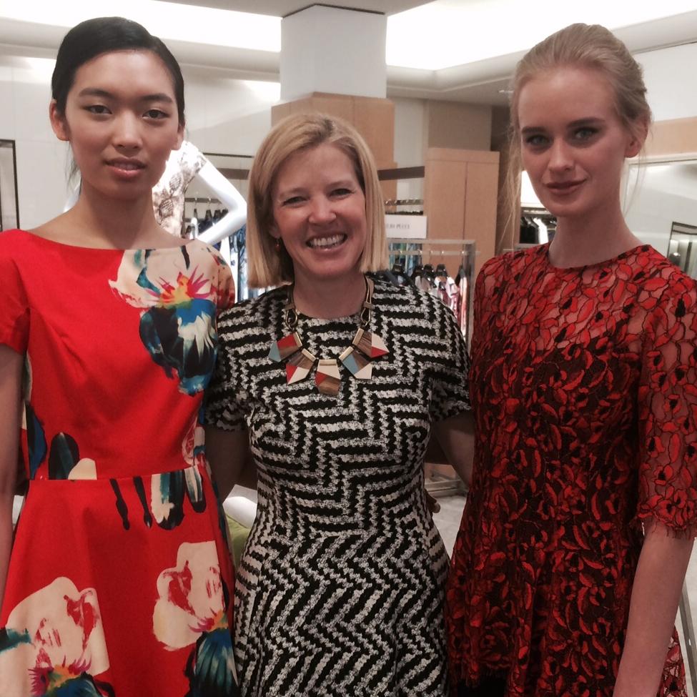 Lela Rose and models at Neiman Marcus Houston Galleria store