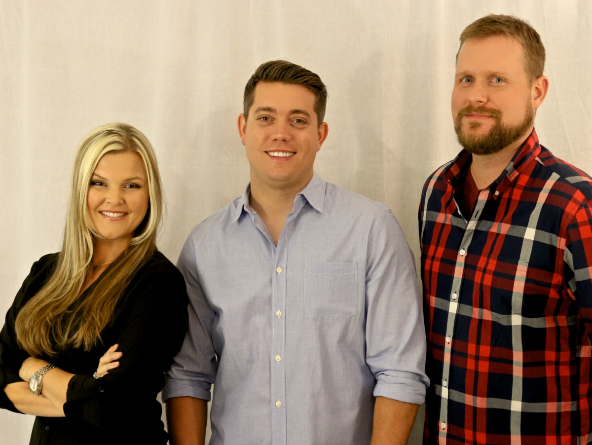 Mix 95.6 morning team Dave Farra, Jason Mahoney and Daena Kramer