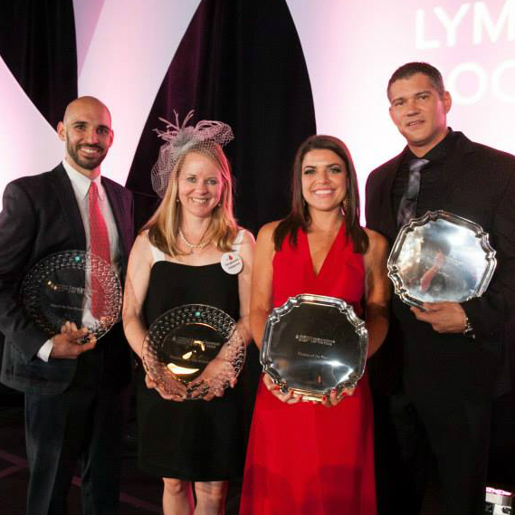 Leukemia & Lymphoma Society's Man & Woman of the Year Gala_Trey Axe_Stephanie Simpson_Shannon Wolfson_Dylan Reed_2015