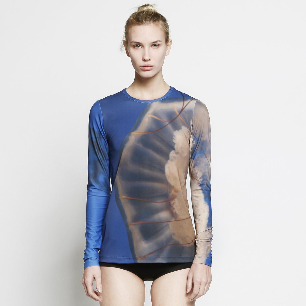 Cover jellyfish long sleeve top at TenOverSix
