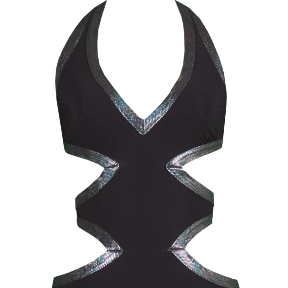 Karla Colletto Hologram cutout swimsuit