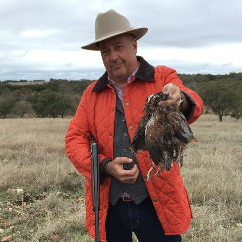 Andrew Zimmern_Bizarre Foods_Broken Arrow Ranch_quail hunting_2015