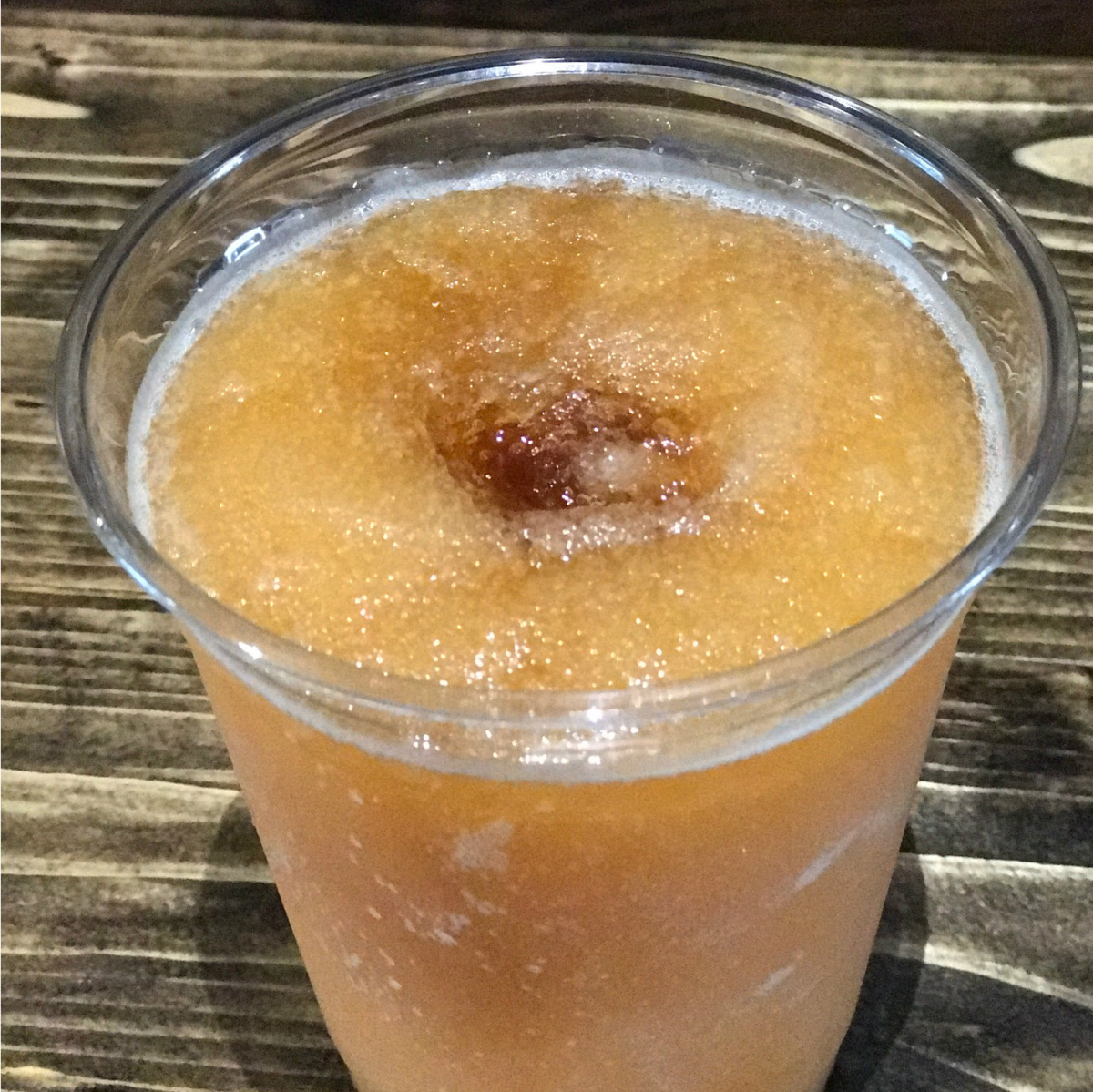 Peach Blossom daiquiri at Cajun Tailgators