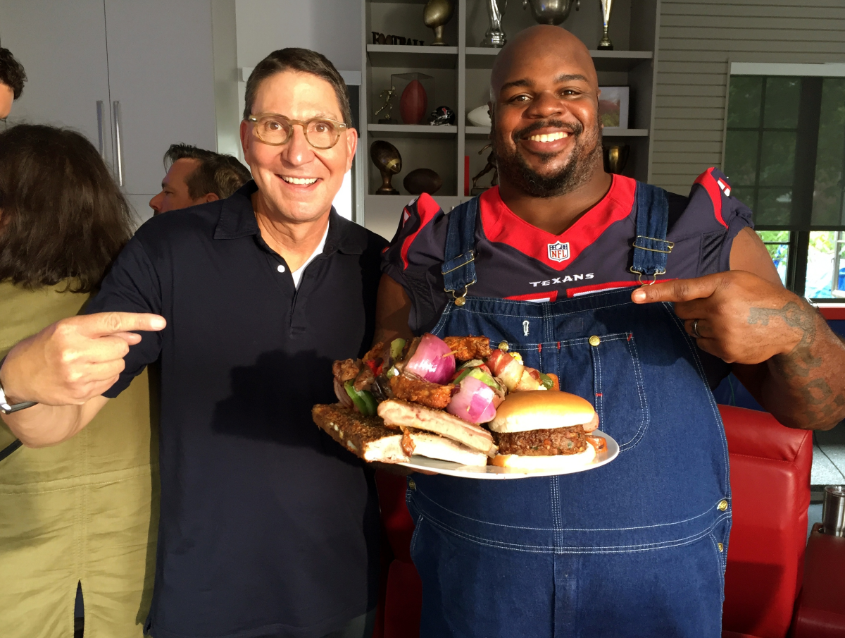 Houston, HEB president Scott McClelland, July 2017, Scott McClelland, Vince Wilfork
