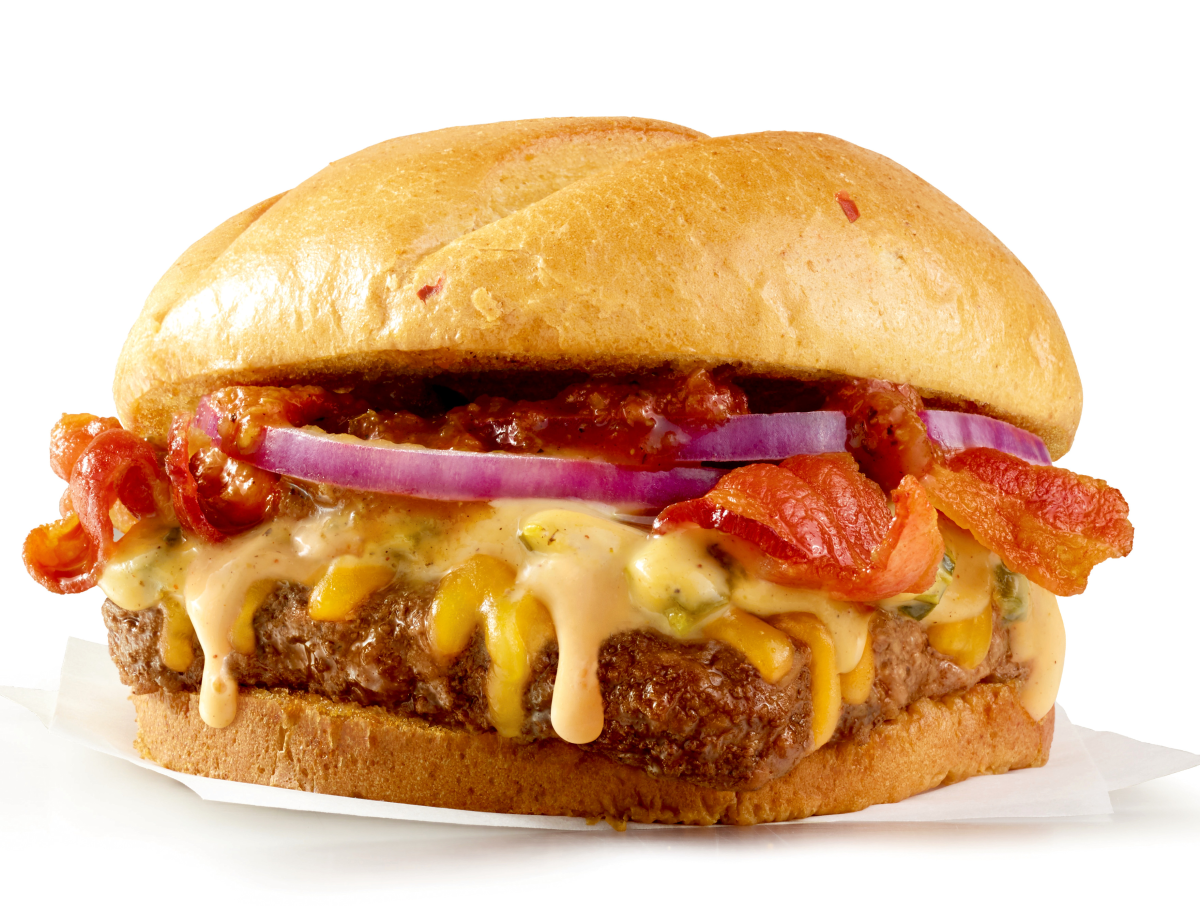 Houston, Wendy's Bacon Queso Burger, July 2017, Bacon Queso Burger