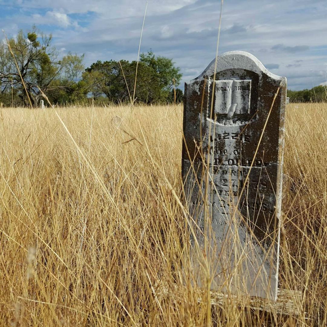 Cemetery in Thurber, Texas