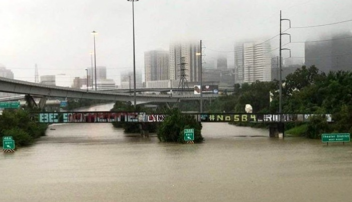 Incredible photos as Hurricane Harvey hits Houston especially hard