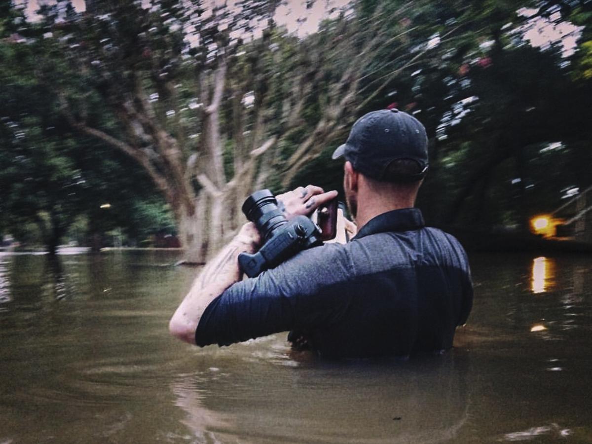 Hurricane Harvey flooding in Houston photo of Dan Henson