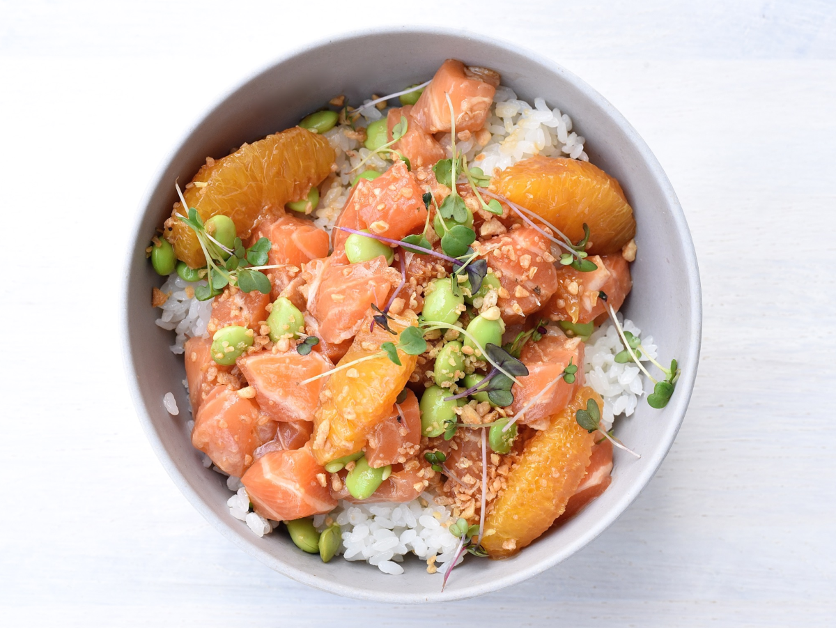 SeaSide Poke salmon ponzu bowl