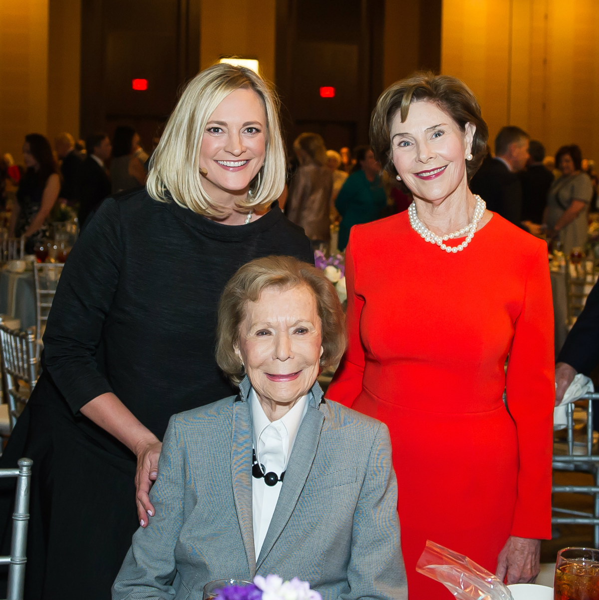 Jennifer Sampson, Ruth Sharp Altshuler, Laura Bush