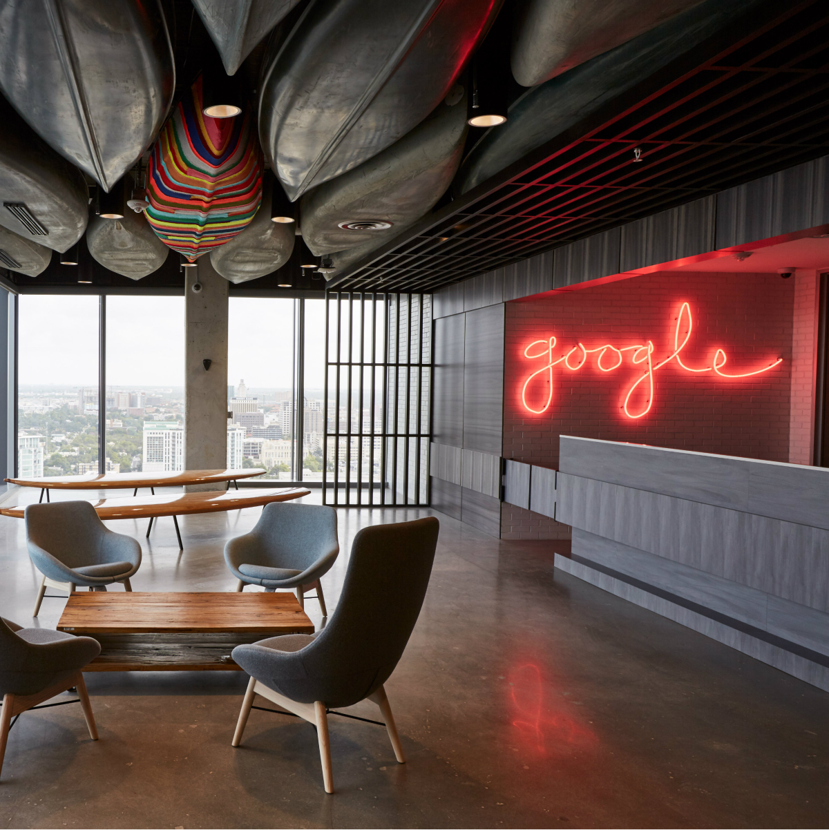 Google Austin office lobby