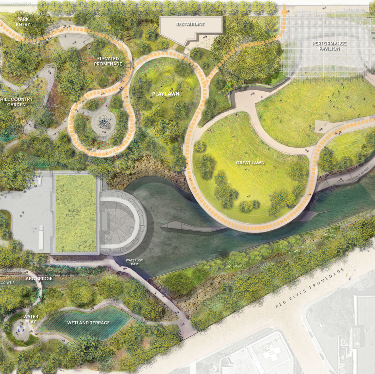 Waller Creek Site Plan