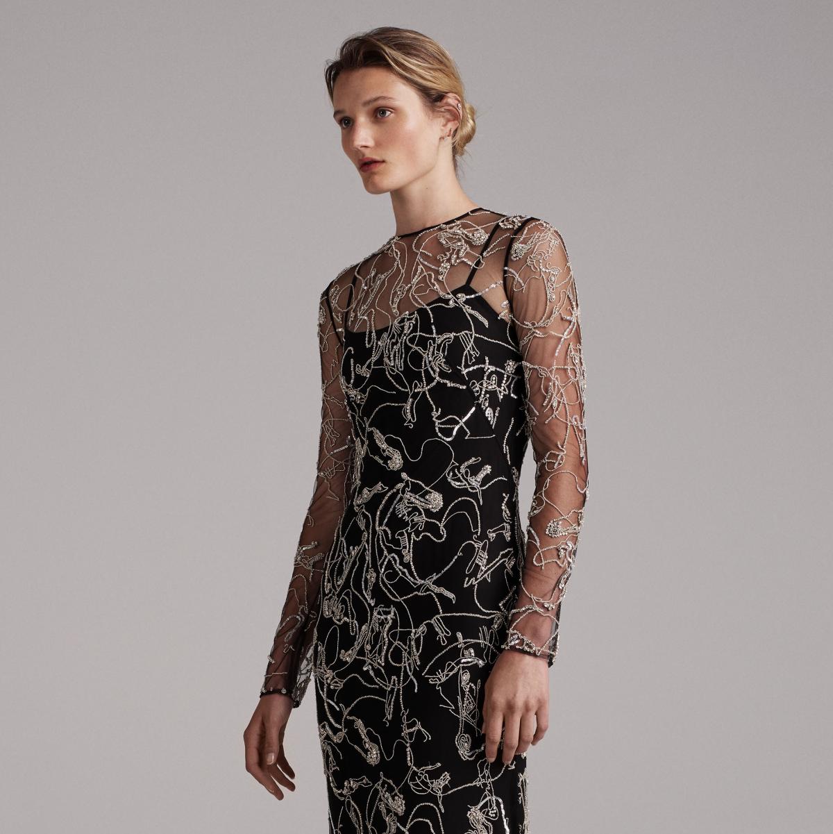 Elizabeth Kennedy spring 2018 gown look 24 horse motif