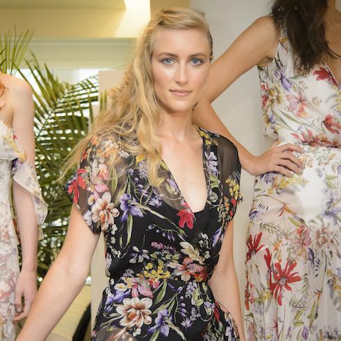 Carmen Marc Valvo floral print spring 2018