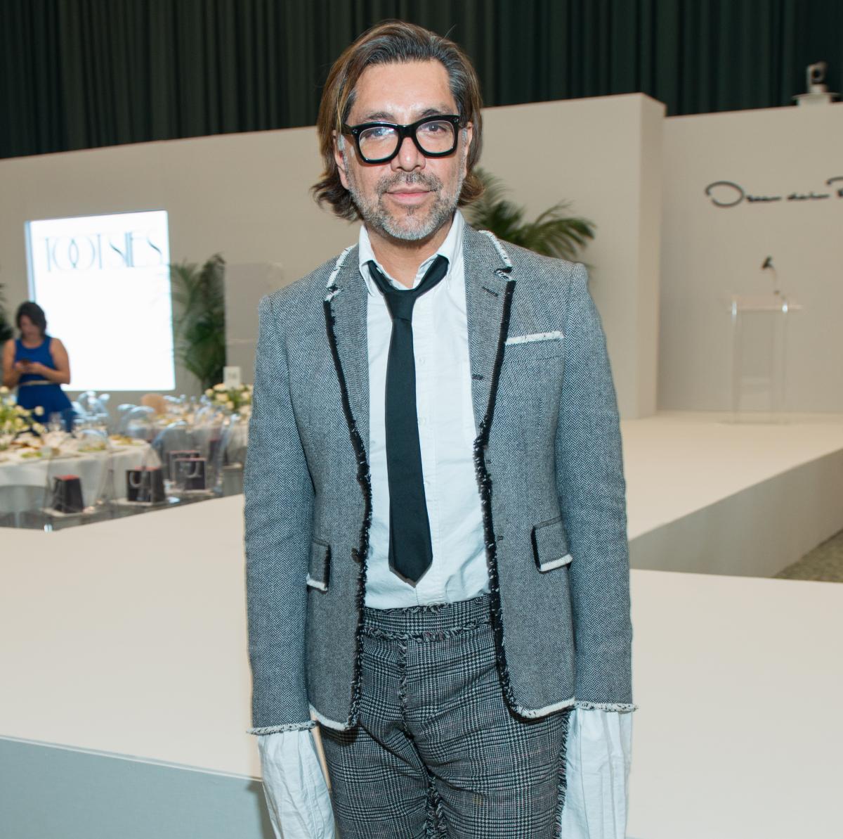 Ceron at Oscar de la Renta fashion show at MFAH