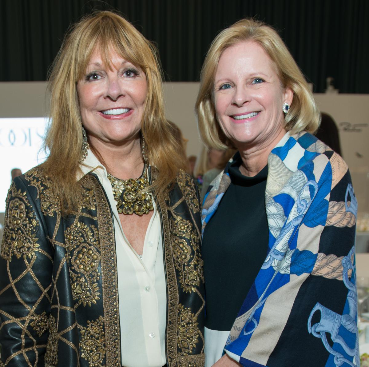 Meg Goodman, Laurie Liedtke at Oscar de la Renta fashion show at MFAH