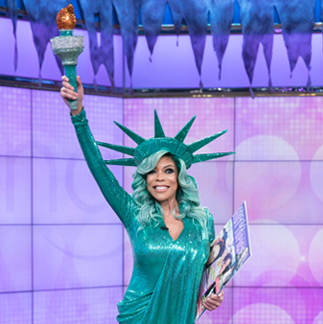 Wendy Williams Statue of Liberty costume designed by Cesar Galindo