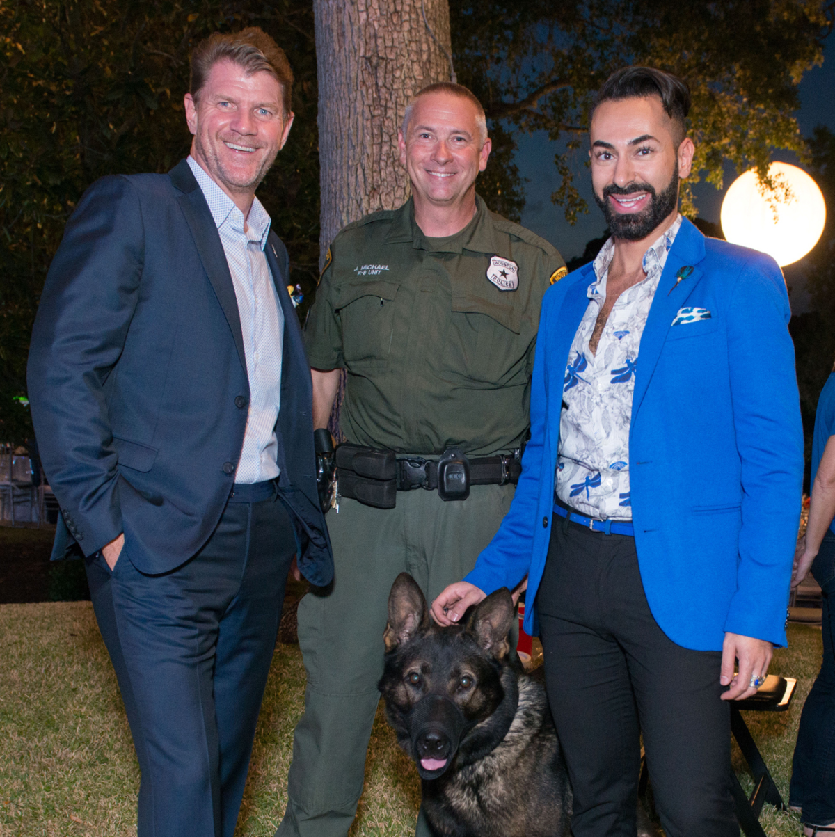 Houston, True Blue Gala, November 2017, Bill Baldwin, officer Jeff Michael with Bullet, Fady Armanious